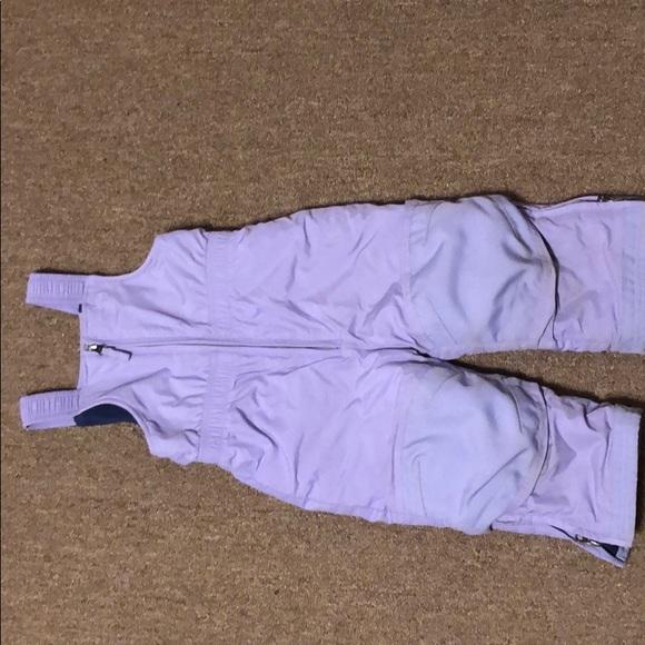 L.L. Bean Purple Snow Overalls Size 2T